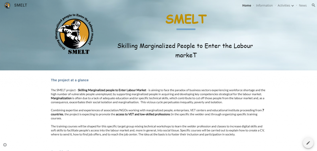 Launch of SMELT project website